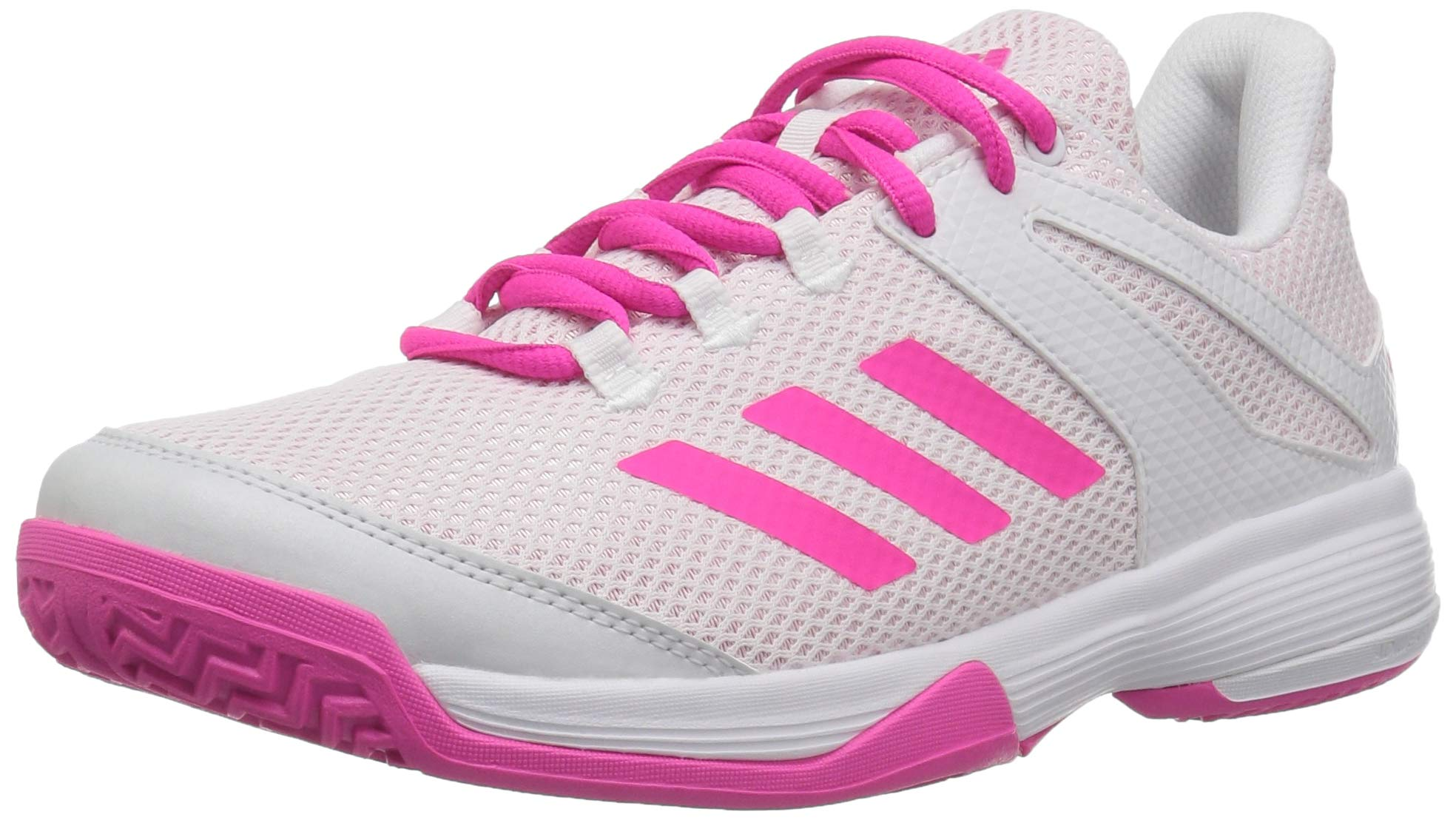 adidas Unisex Adizero Club Running Shoe Shock Pink/White, 6.5 M US Big Kid