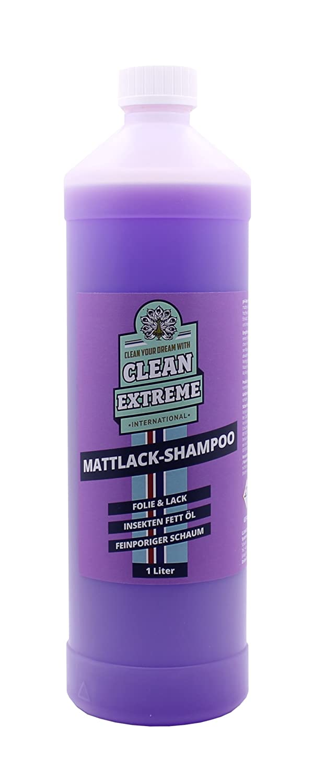 CLEANEXTREME Shampoo per auto laccato opaco 1 Litro Concentrato Speciale Vernice opaca-cura: Al Pulitore di Vernice opaca Vernice auto opaco, Film opaco e matter Auto spray lamina. Riceve affidabile l'