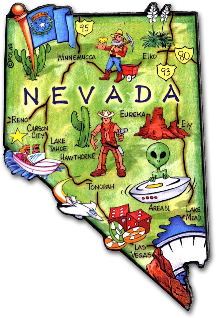 Nevada State Decowood Jumbo Wood Fridge Magnet 4