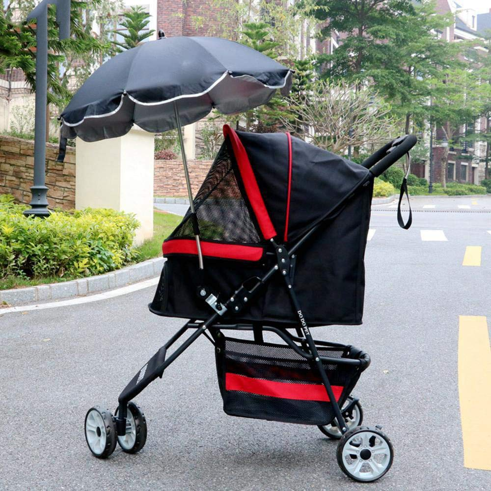 A Lozse Pet Stroller Dog Pushchair Sun Umbrella Trolley Anti-UV sunscreen umbrella