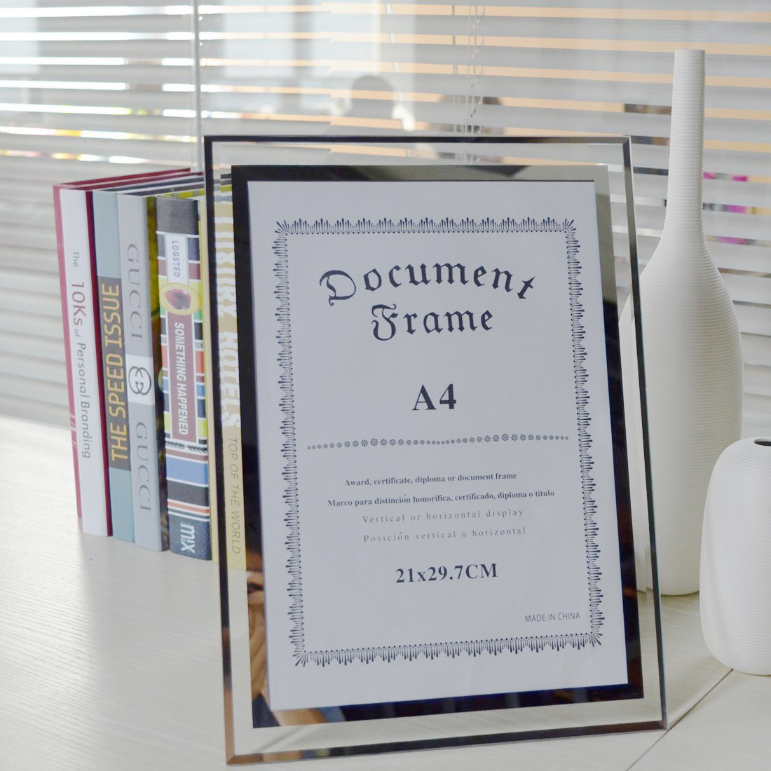 MAYMII Made to Display Certificates 8.5x11 Inch A4 Size Document Certificate Picture Standard Paper Glass Frame Frames by Maymii•Home