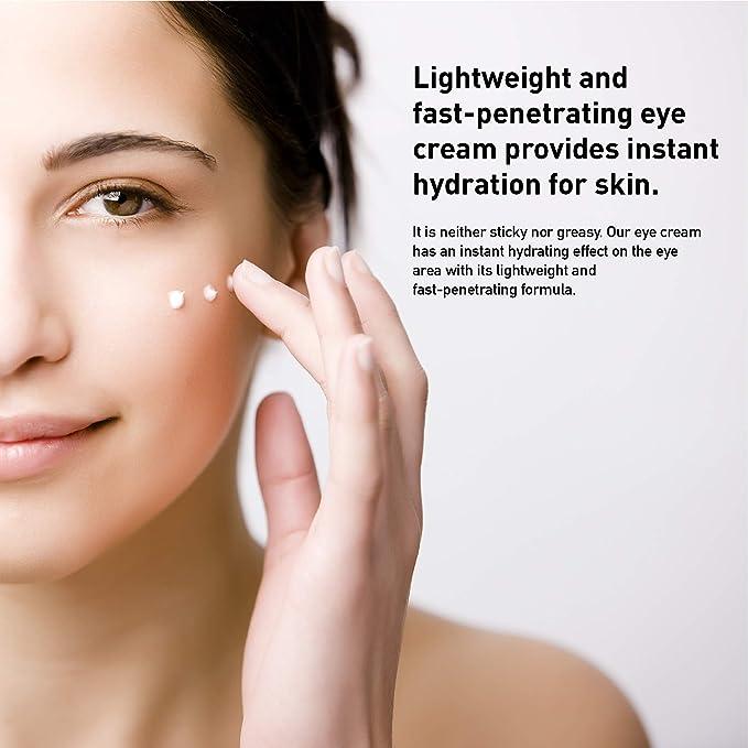Lagunamoon Crema para Ojos Antiarrugas, Contorno de Ojos Anti edad, Suero para Reducir Bolsas y Ojeras (50ml)