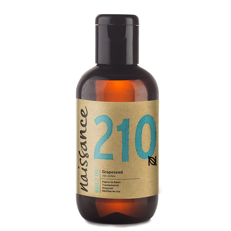 Naissance Olio di Vinaccioli - Olio Vegetale Puro al 100%, Vegano, senza OGM, Idratante, usato per Massaggio e Capelli - 100ml