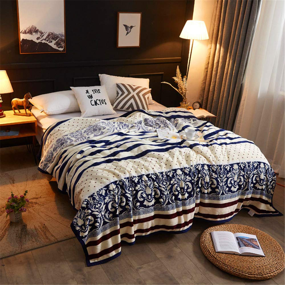 New Thick Gold Velvet Carpet for Four Seasons Available Soft Skin-Friendly Microfiber Blue and White Porcelain 180200cm