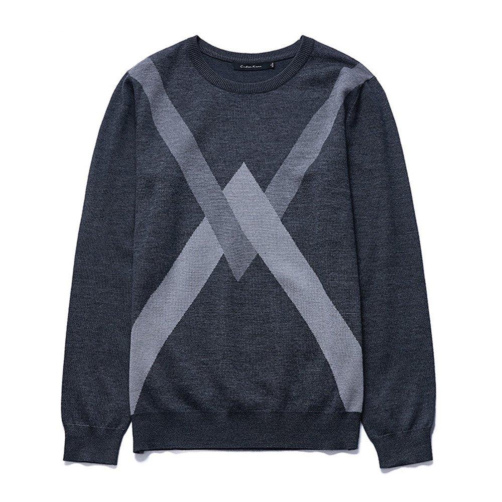 Jdfosvm männer - Pullover, Winter und Herbst Pullover, self-Cultivation, Halsband, Kragen, männer - Pulli,Grau,XL