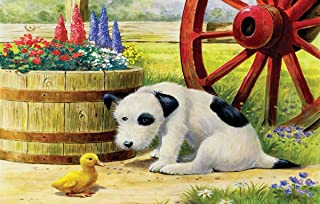 product image for SUNSOUT INC Pup and Friend 100 pc Jigsaw Puzzle