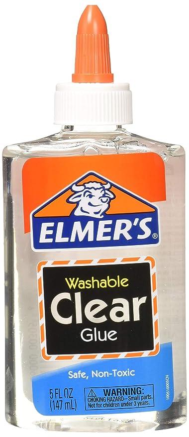 Elmer's E305 Washable School Glue, 5 oz Bottle, 4 Pack, Clear