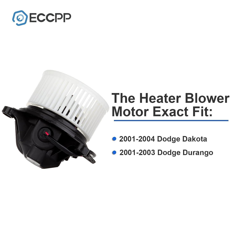 Hvac Plastic Heater Blower Motor W Fan Cage Durango Resistor Wiring Diagram Free Picture Eccpp For 2001 2004 Dodge Dakota 2003 Automotive