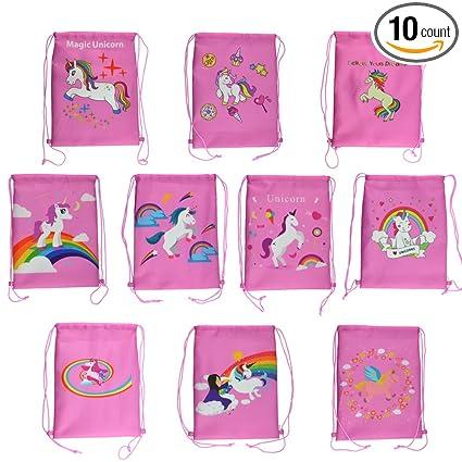 Amazon.com: Rantanto 10 bolsas de unicornio por ambos lados ...