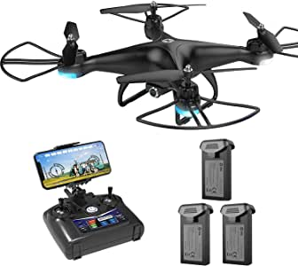 Holy Stone HS110D Drone with 3 Batteries