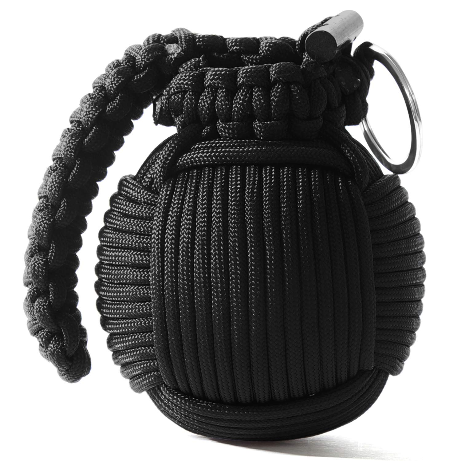 Holtzman's Survival Kit Paracord Grenade The #1 Best 48 Tool Emergency kit (Solid Black) by Holtzman's Gorilla Survival