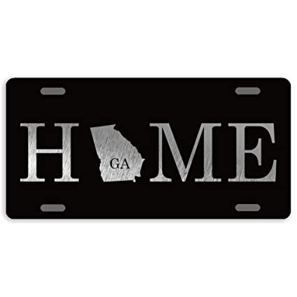 Eprocase 50 Home State License Plate Cover Novelty Tag Aluminum Car Plate Decorative Car Tag Sign Metal Auto Tag Front License Plate 4 Holes 12 X