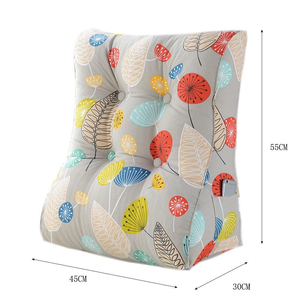 AJZGF Comodino Cuscino Triangolare Borsa Morbida Protezione Lombare per L'Ufficio Protezione per Il Collo Vita Cuscino Posteriore Amovibile e Lavabile Cuscino per Cuscino (colore   C)