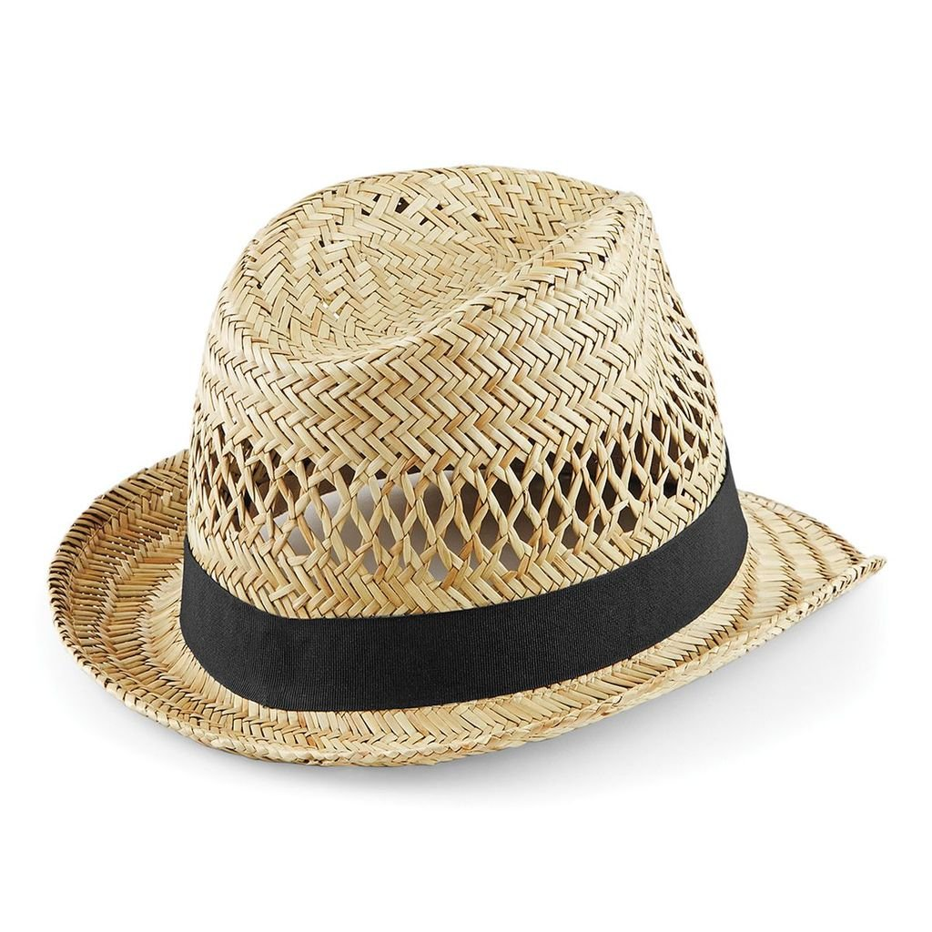 Beechfield Straw Summer Trilby - 2 Sizes