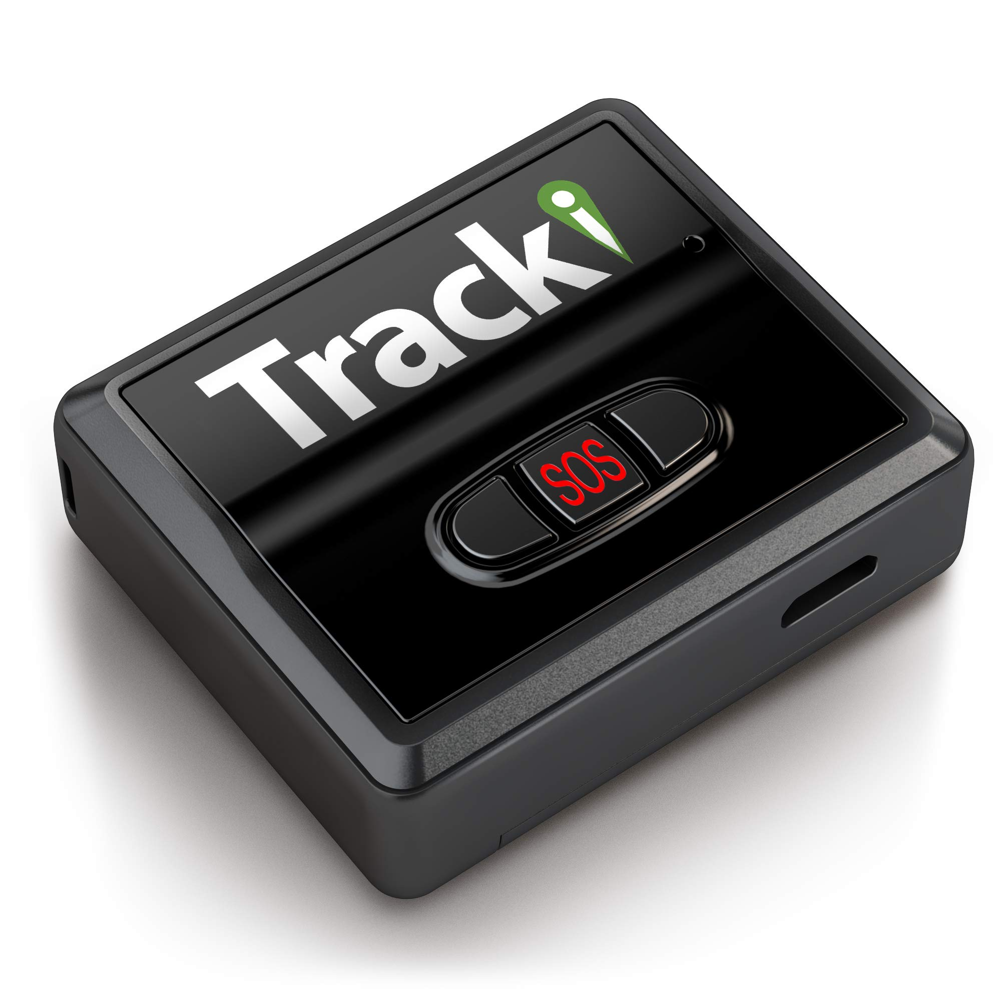 Tracki 2019 Model Mini Real-time GPS Tracker. Full USA, CA & Worldwide Coverage. for Cars, Kids, Pet, Drone, Vehicle spy. Small Portable GPS Tracking Device, Magnetic Mount, SOS Button, 30 Days Batt ...