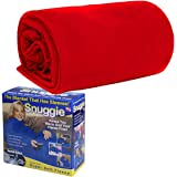 Adult snuggle wrap blanket with sleeves (Red)