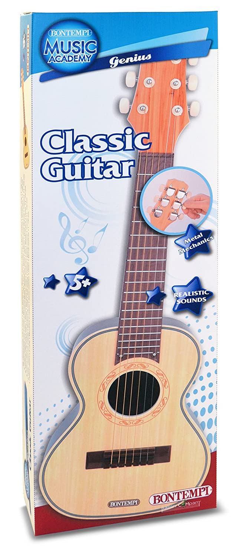 Bontempi Guitarra clásica de Madera Spanish Business Option Tradding 20 7015: Amazon.es: Juguetes y juegos