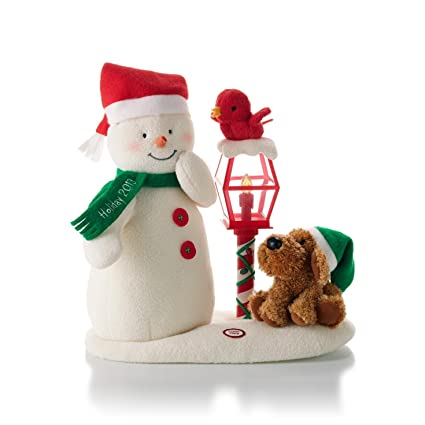 Amazoncom Hallmark Merry Carolers Techno Plush Snowman Home Kitchen