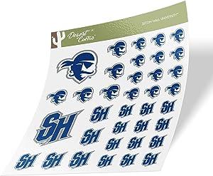 Seton Hall University SHU Pirates NCAA Sticker Vinyl Decal Laptop Water Bottle Car Scrapbook (Type 1-1 Sheet)