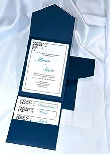 Amazon.com: Navy Blue Wedding Invitations, Groom Wedding ...