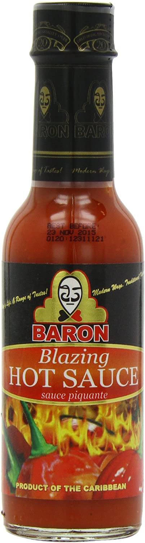 Baron Blazing Hot Sauce 155 g (Pack of 6)