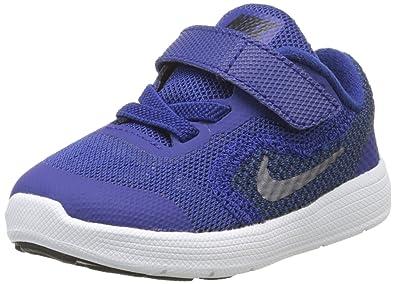 Nike Baby Boys' Revolution 3 Walking Shoes, Bleu (Deep Royal Blue/Metallic