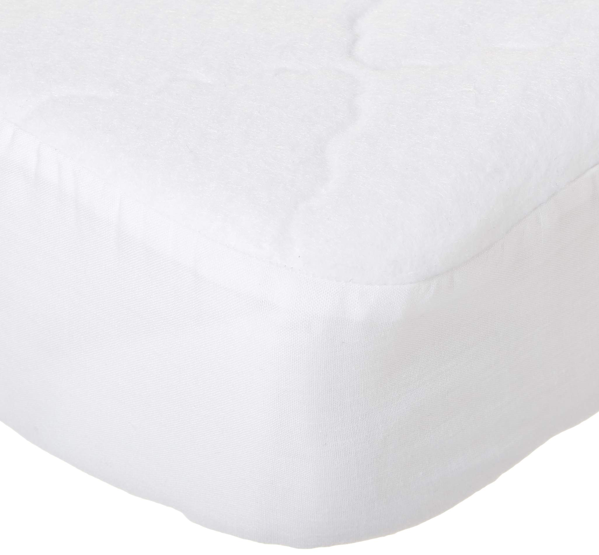 BabyDoll Bedding Fitted Waterproof Bassinet Mattress Protector, 13X29, White