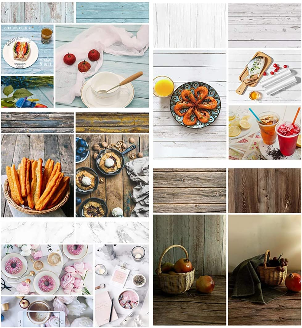 BEIYANG 5PCS 22x35 Inch 2 in 1 Photography Backdrops, Retro Vintage Marble Texture Waterproof Background Paper Tabletop Backdrop Food Jewelry Cosmetics Makeup Professional Photo Shoot