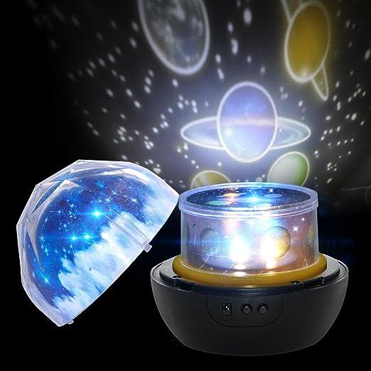 Star Proyector Luz Nocturna para Niños, Lámpara de Proyección ...