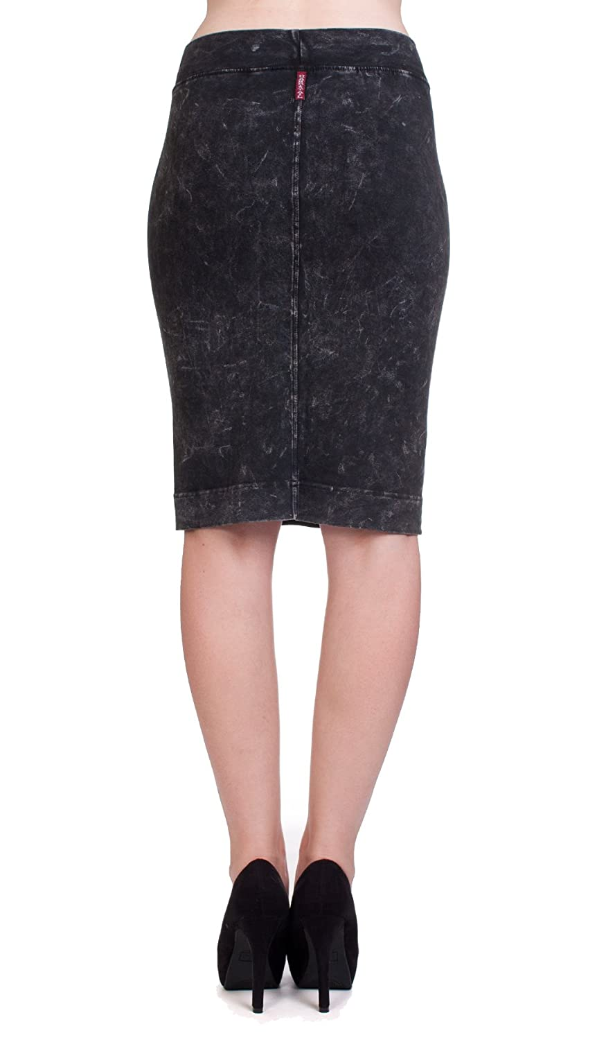 Hard Tail knee skirt charcoal mineral wash