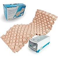 Mobiclinic Colchón antiescaras con alternancias de Celdas | Compresor Incluido | Peso máximo soportado 135Kg | Color Beige | Marca