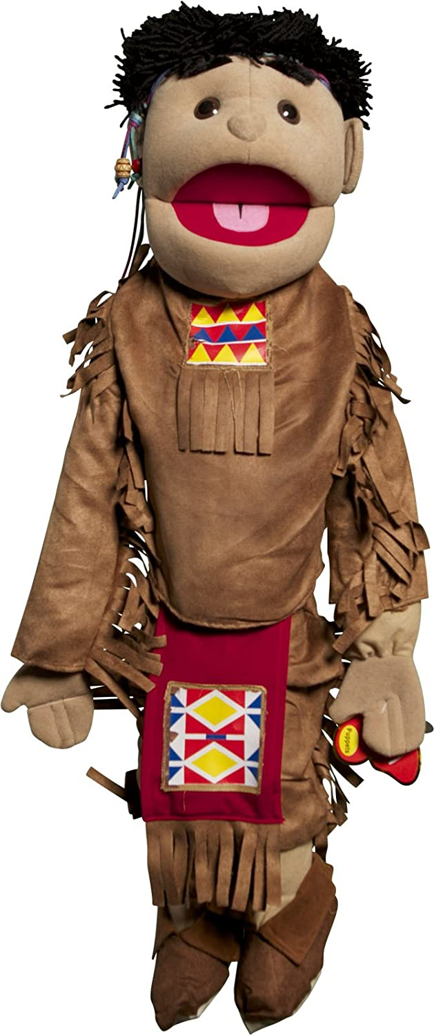 """Sunny Toys 28"""" American Indian Junge bei Brown Costume Full Body Puppet"""