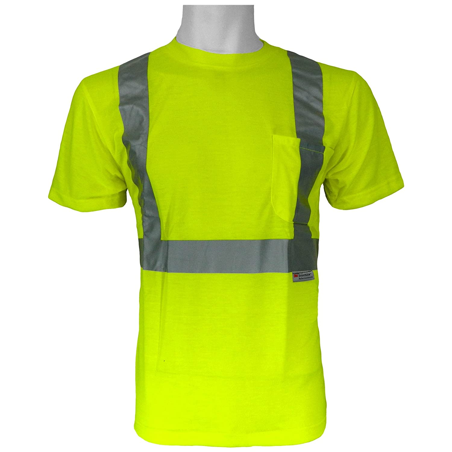 Medium GLO-008-M Lime Global Glove GLO-008 FrogWear Class 2 Safety T-Shirt with 3M Scotchlite Reflective Tape Case of 100