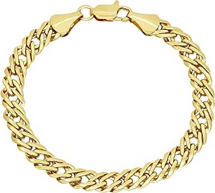 7 inch Gold Plate Cable Bracelet.