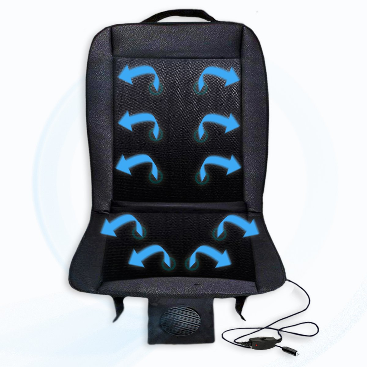 Zento Deals 12V Automotive Adjustable Cooling Car Cushion SE46