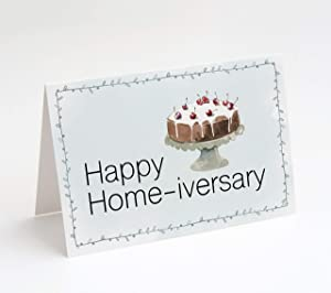 Realtor Thank You Cards, 25 Cards with Envelopes, Blank Inside, Made in the U.S.A. (Happy Home-iversary)