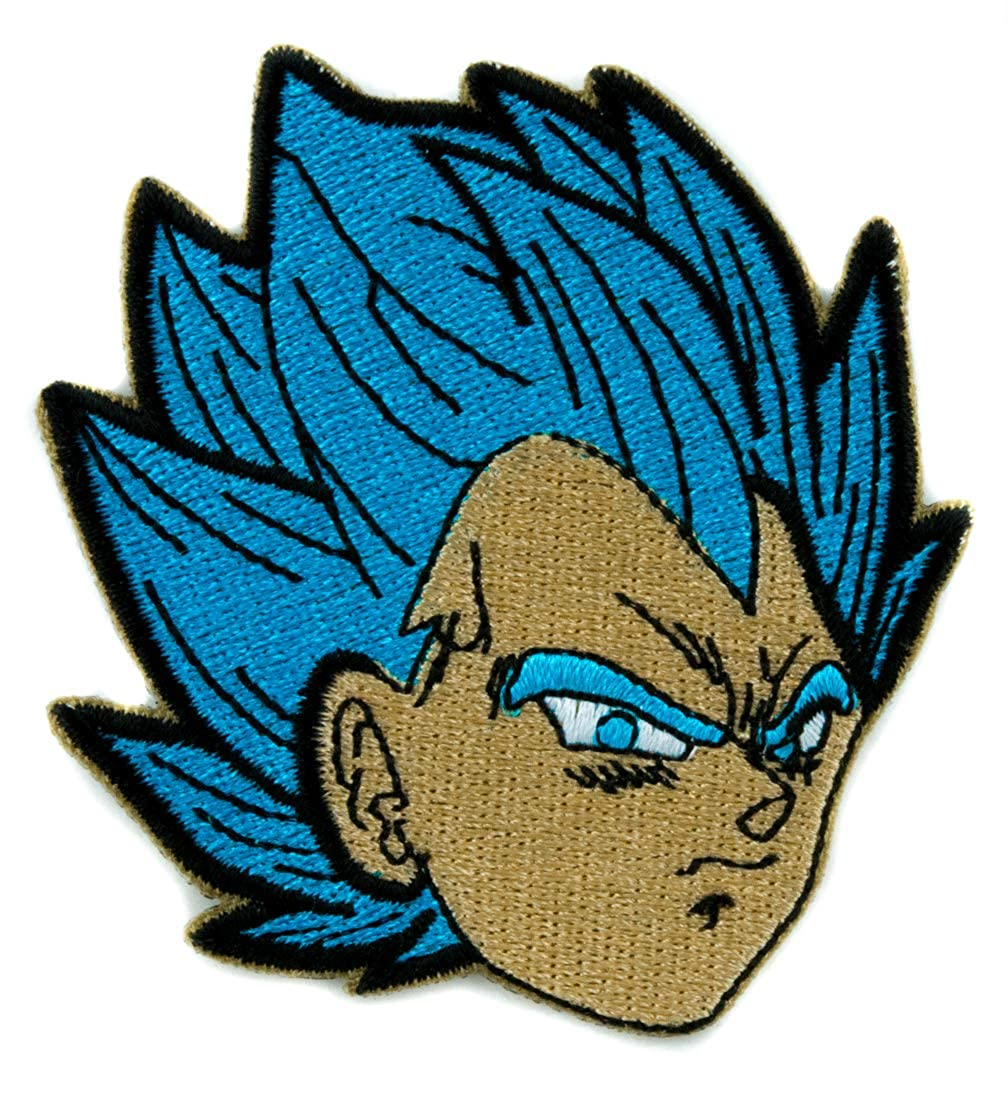 Dragon Ball Z Gohan Super Saiyan Blue Patch Iron on Applique Anime Cosplay Clothing