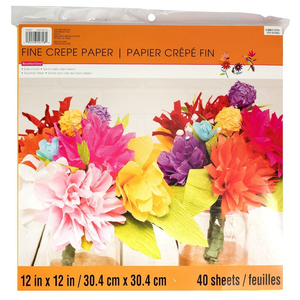 Recollections Fine Crepe Paper - Summer Fiesta Pack 12x12