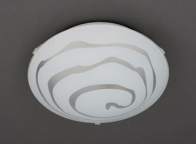 Trango lampada da soffitto in vetro da bagno con attacco e