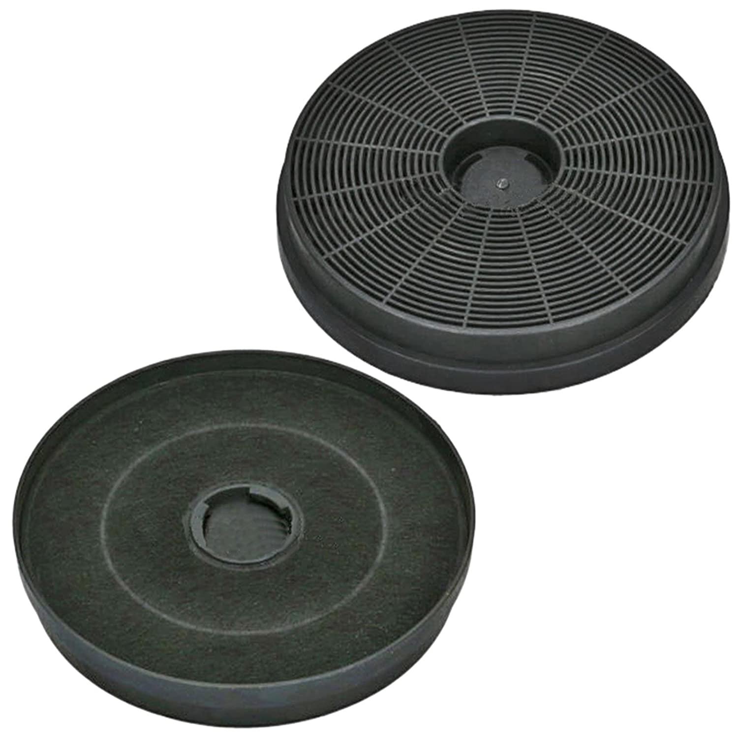 SPARES2GO Active Carbon Vent Filter for Stoves Cooker Hood Extractor (Pack of 2)