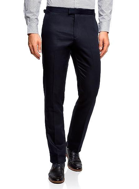 Lino Ultra Cotone Con Cintura Regolabile E Oodji In Pantaloni Uomo qv7wnnASY