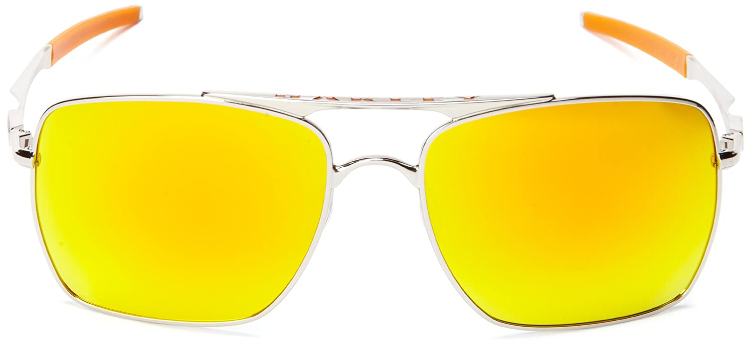 451d348cc00 Deviation 4061 03 Polished Chrome Fire Iridium Sunglasses - size One Size   Oakley  Amazon.co.uk  Clothing