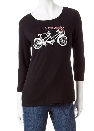 f49aa0dd1c2 Rebecca Malone Hearts Bicycle Embellished Long Sleeve Top