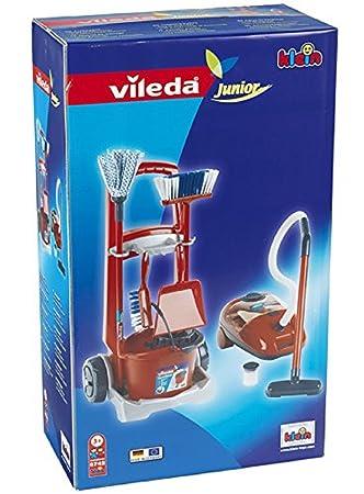 Carro de limpieza + aspiradora - Juguete con funciones Reales - Funciona con pilas: Amazon.es: Juguetes y juegos