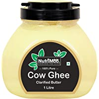 NUTRIMOO 100% Pure & Natural Cow Ghee | Real Cow Milk Ghee | 100% Nutritious Unadulterated Ghee Made Using Traditional (Vedic) Bilona Method - 1 Litre Pack