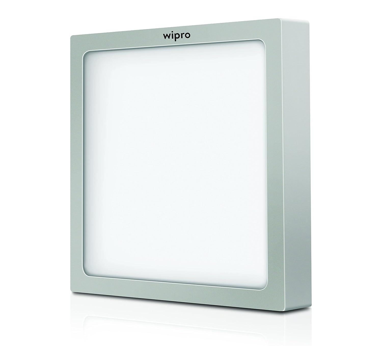 Wipro D651840 Garnet 18-Watt Trimless Panel Light (Neutral White, Square)