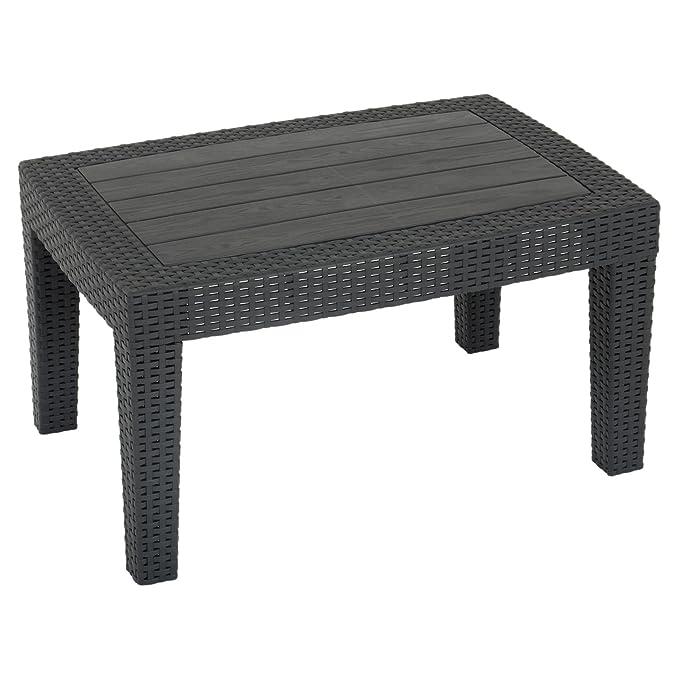 Azuma negro Superior de vidrio de ratán jardín juego de sofá ...