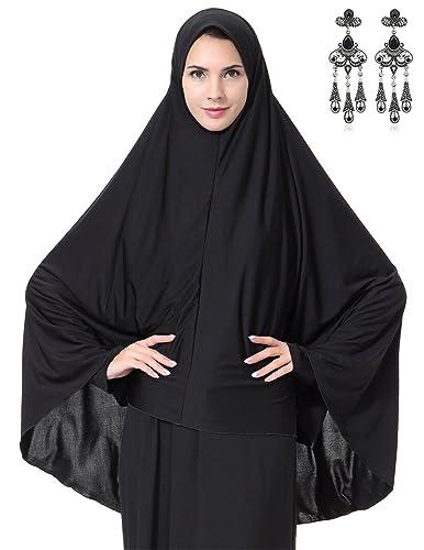 MODETREND Donna Sciarpa Musulmane Lungo Hijab Full-Cover Scialle Islamiche Islamico Morbido Cappello...