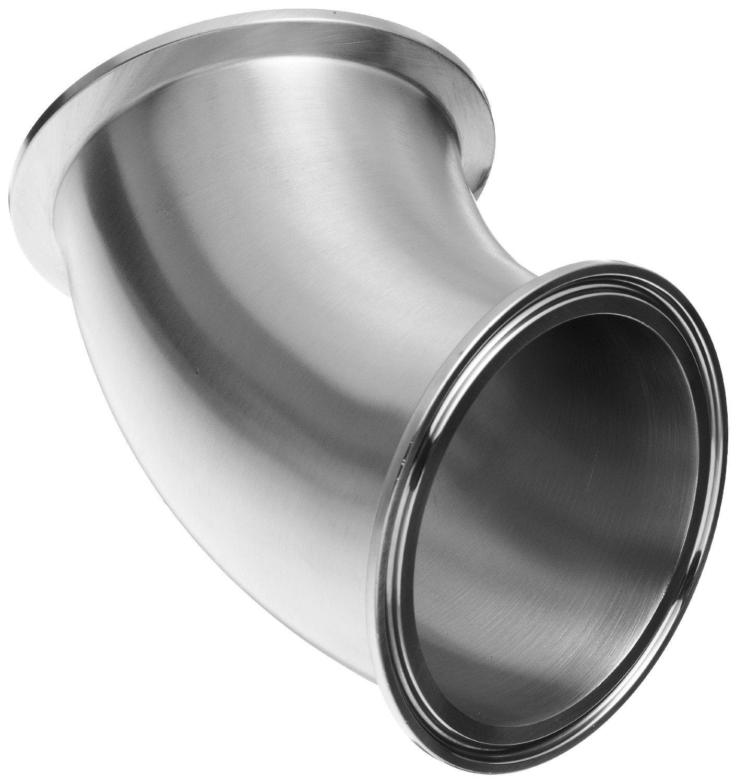 Dixon B2KMP-G300 Stainless Steel 304 Sanitary Fitting, 45 Degree Clamp Elbow, 3'' Tube OD