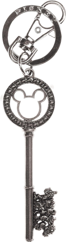 Disney Silver Master Key with Gem Beads Pewter Key Ring